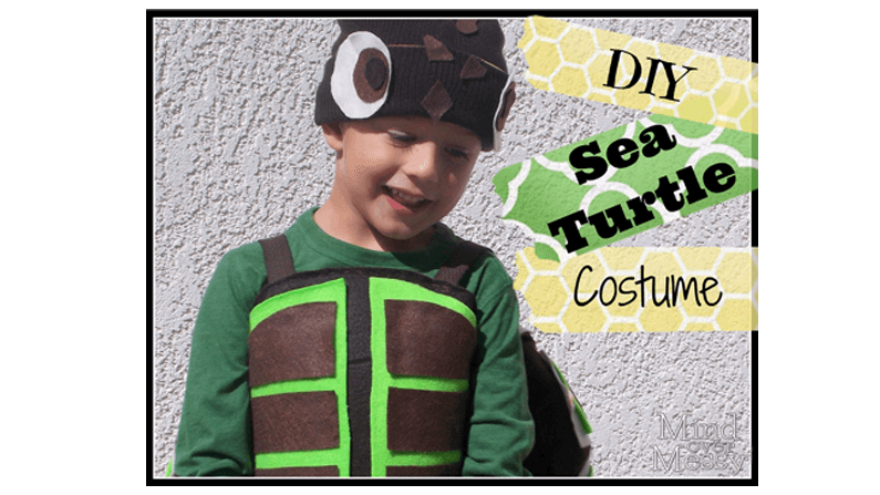 Diy turtle costume tutorial mind over messy turtle costume diy barely any sewing solutioingenieria Gallery