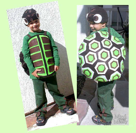 Diy turtle costume tutorial mind over messy diy sea turtle costume solutioingenieria Gallery