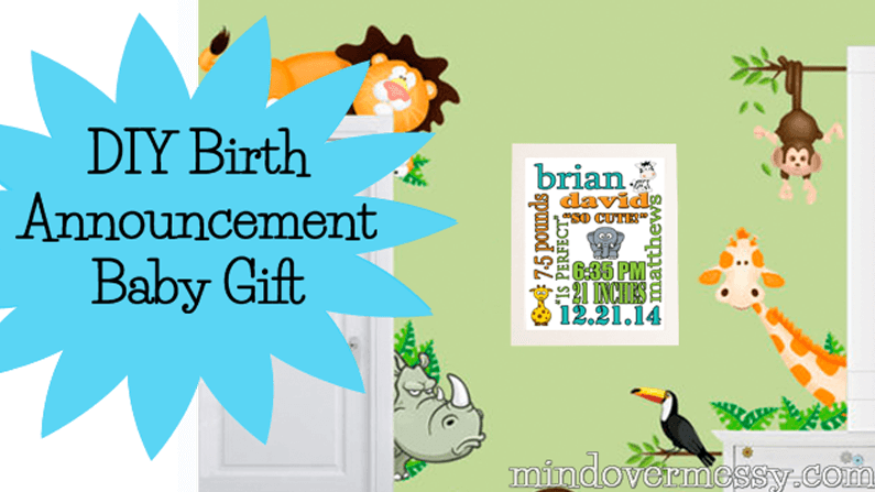 DIY Baby Announcement Poster Mind Over Messy - Electronic birth announcement template
