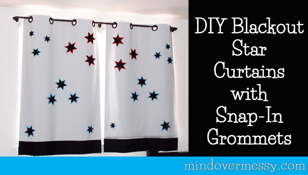 Curtains Ideas curtain grommets diy : DIY Star Curtains with Easy Grommets | Mind Over Messy